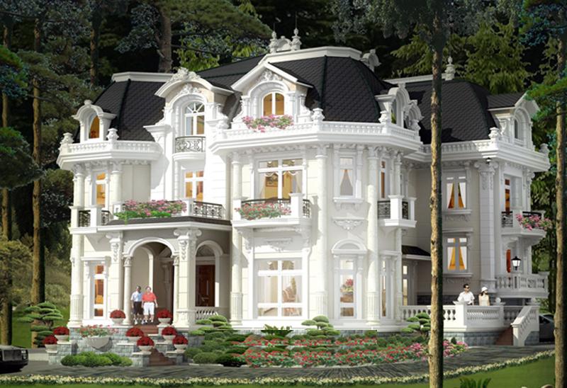 thiết kế biệt thự phong cách cổ điển