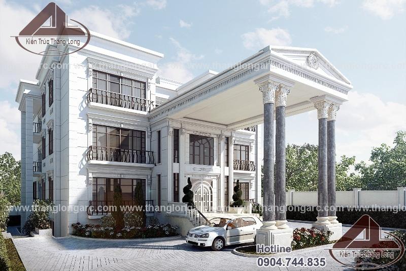 Thiết kế biệt thự cổ điển kết hợp hiện đại