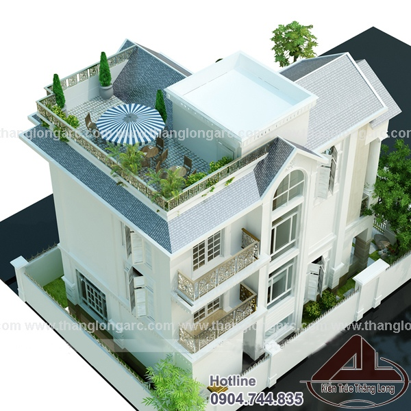 Phoi canh biet thu chau Au TL-B1223