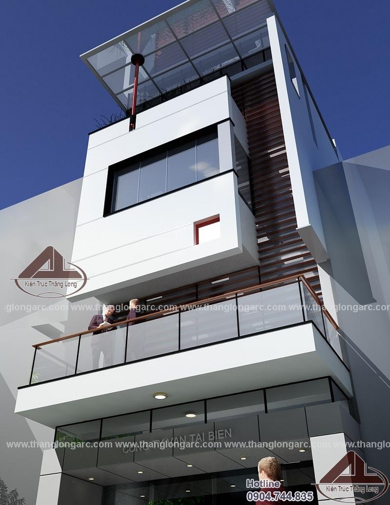 Mẫu nhà phố đẹp hiện đại 4 tầng TL-P1421 view 3