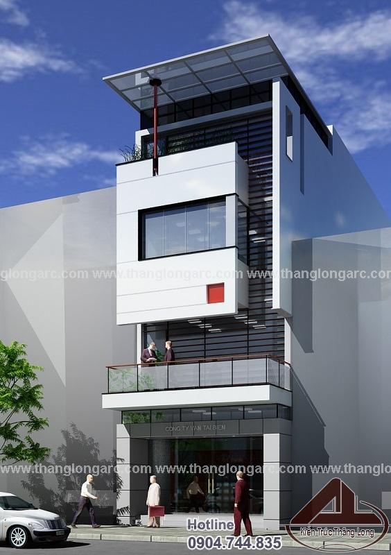 Mẫu thiết kế nhà phố đẹp hiện đại 4 tầng TL-P1421 view 2