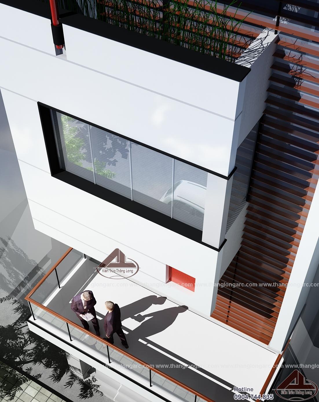 Mẫu nhà phố đẹp hiện đại 4 tầng TL-P1421 view 4