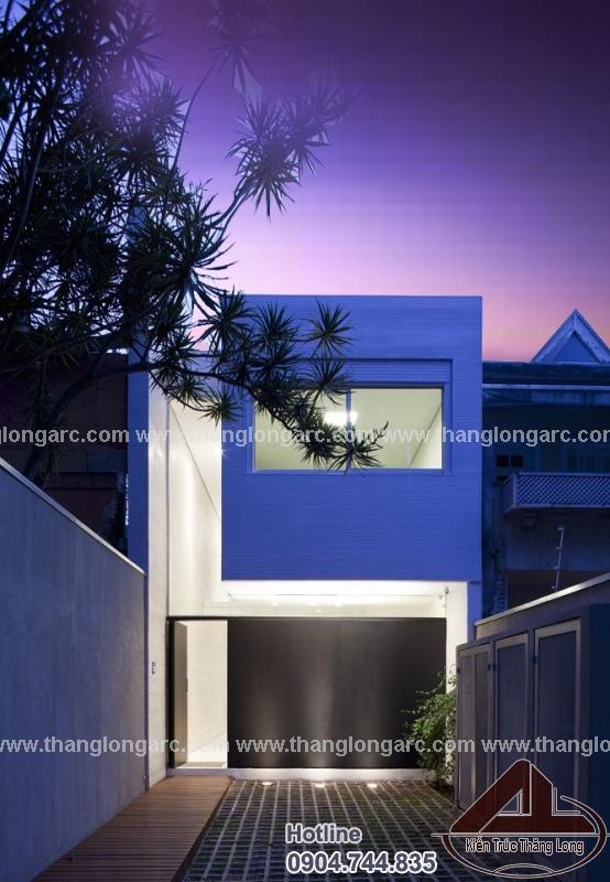 Thiết kế nhà lô phố hiện đại 2 tầng TL-P1423