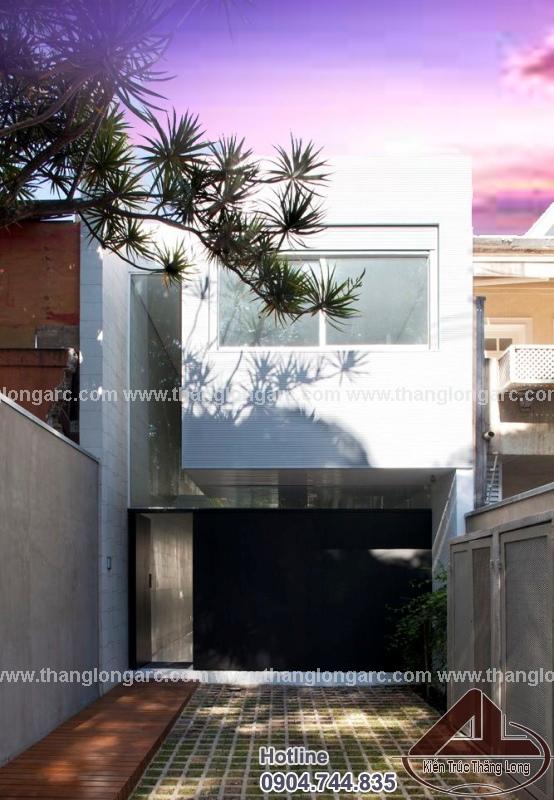 Thiết kế nhà lô phố hiện đại 2 tầng TL-P1423 ban ngày