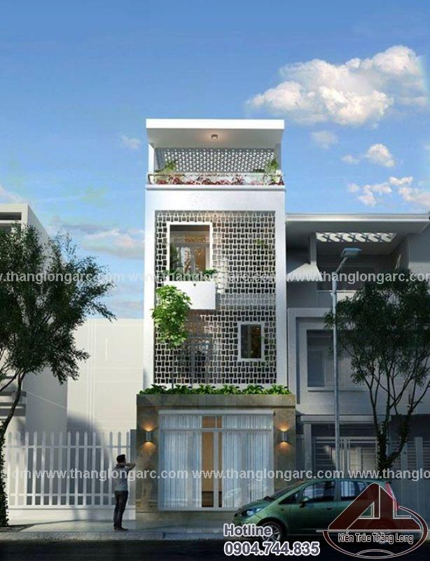 Nhà lô phố đẹp 3,5 tầng hiện đại TL-P1424