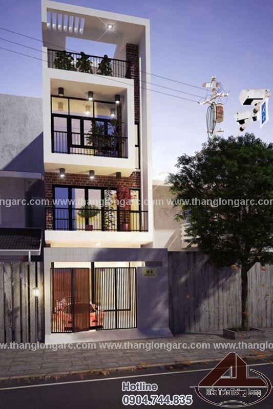 Tthiết kế nhà lô phố đẹp 3,5 tầng hiện đại TL-P1424 view 2