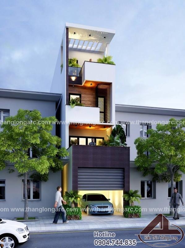 Thiết kế nhà lô phố đẹp 4 tầng hiện đại TL-P1425