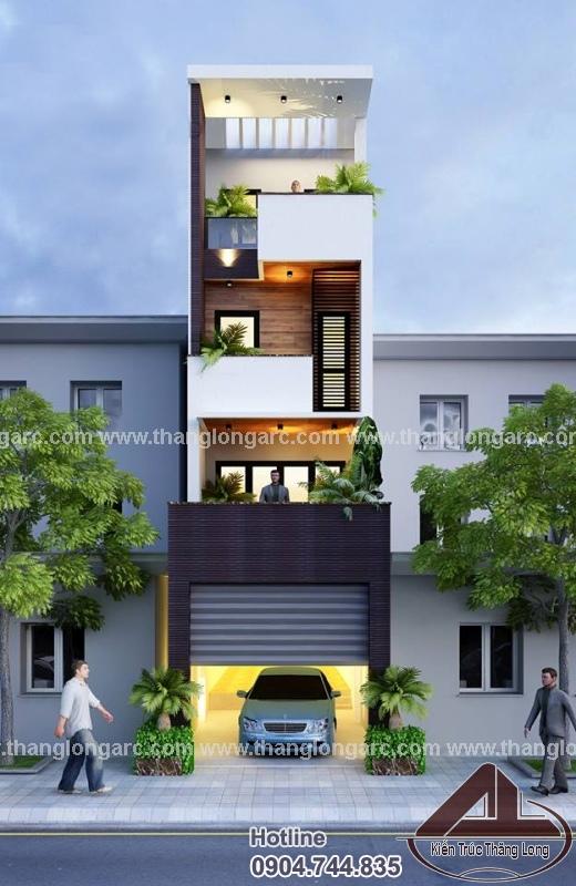 Thiết kế nhà lô phố đẹp 4 tầng hiện đại TL-P1425 view 2