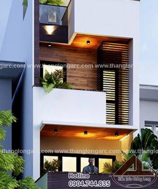 Thiết kế nhà lô phố đẹp 4 tầng hiện đại TL-P1425 view 3