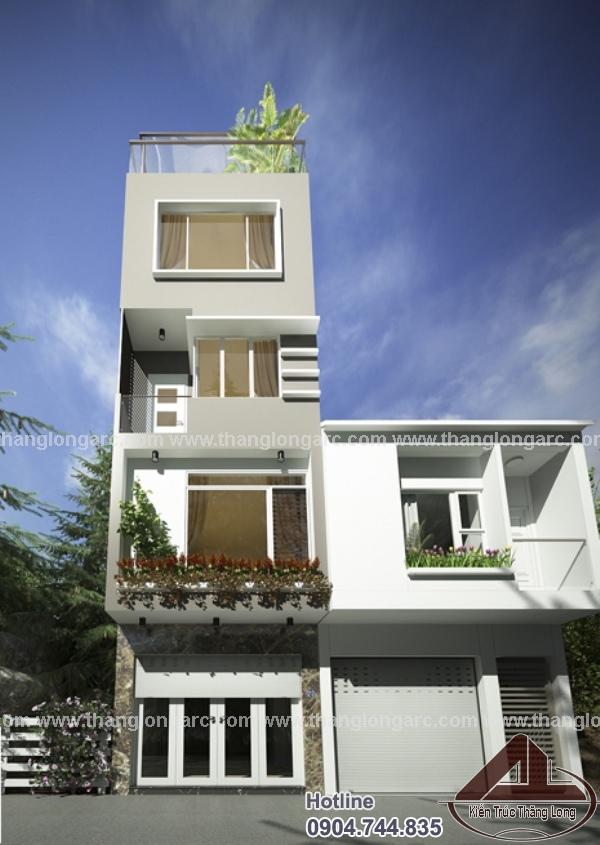 Mẫu thiết kế nhà phố hiện đại 4 tầng TL-P1413