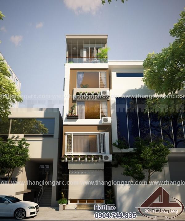 Thiết kế nhà phố 5 tầng TL-P1412
