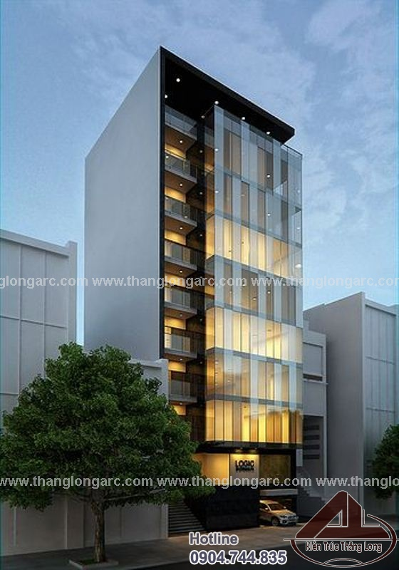 Mẫu thiết kế tòa nhà văn phòng 10 tầng TL-P1450 view 1