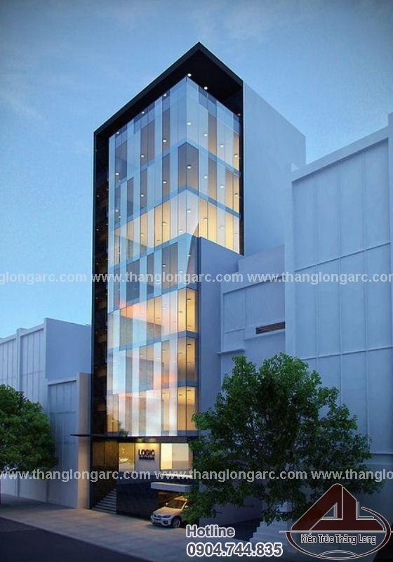 Mẫu thiết kế tòa nhà văn phòng 10 tầng TL-P1450 view 2