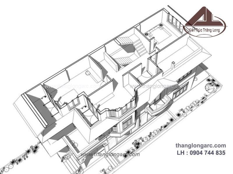 Mẫu thiết kế biệt thự cao cấp 3 tầng đẹp, sang trọng