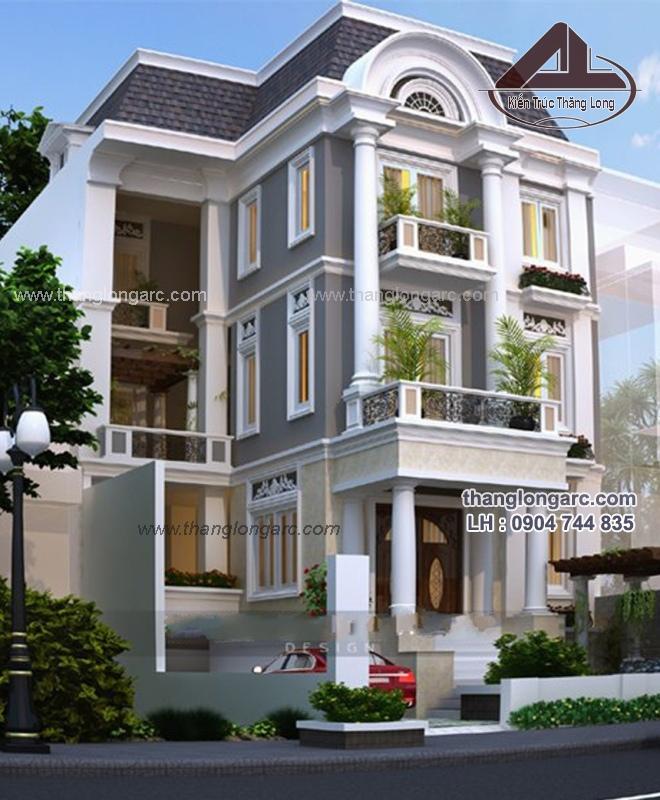 Mẫu thiết kế biệt thự phố cao cấp 4 tầng đẹp, sang trọng