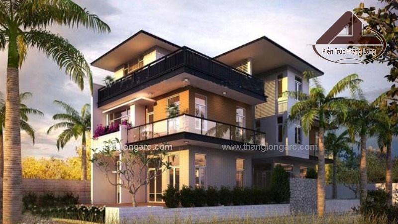 Mẫu thiết kế biệt thự hiện đại 3 tầng đẹp, sang trọng