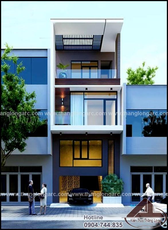 Mẫu thiết kế nhà lô phố hiện đại 3 tầng TL-P1301