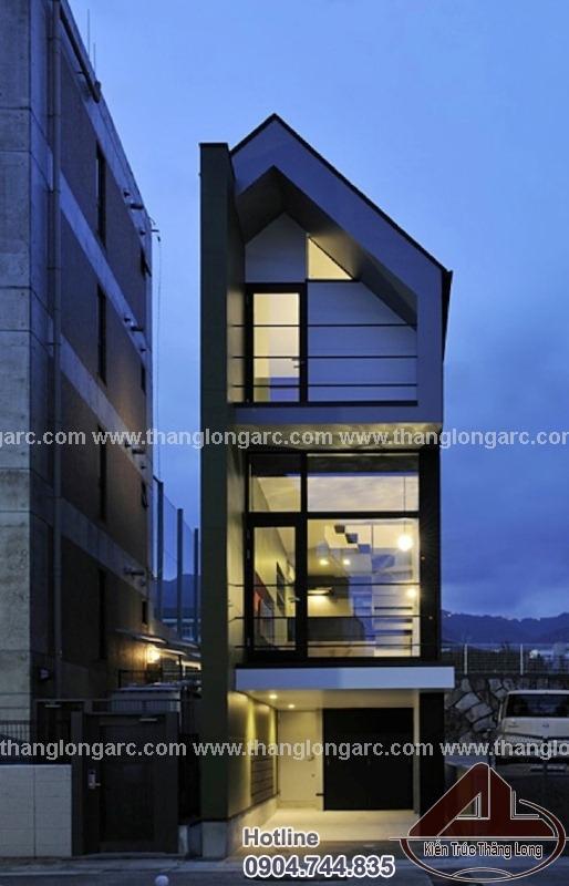 Tthiết kế nhà lô phố đẹp 3,5 tầng hiện đại TL-P1480