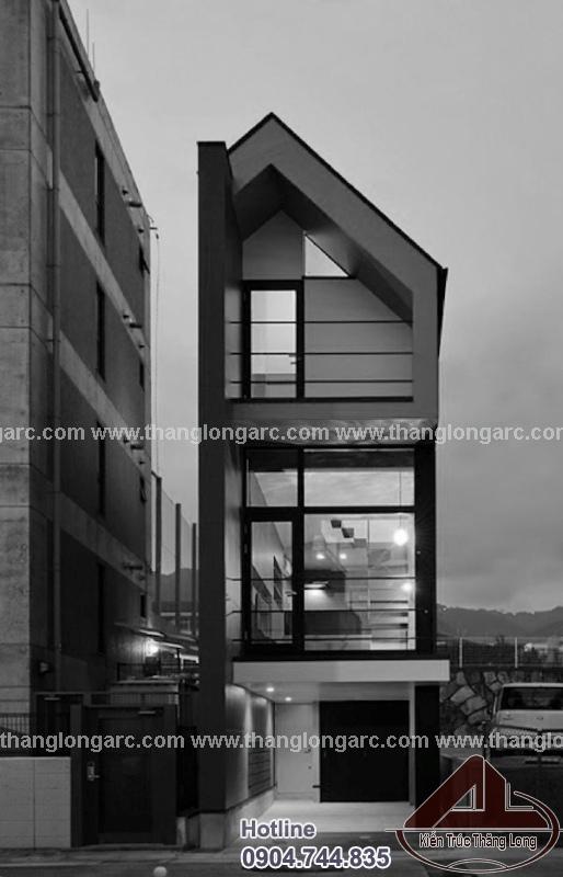 Mẫu nhà lô phố đẹp 3,5 tầng hiện đại TL-P1480 view 3