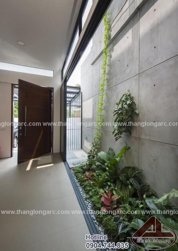 Nội thất tiểu cảnh mẫu thiết kế nhà phố đẹp 3 tầng hiện đại TL-P1290