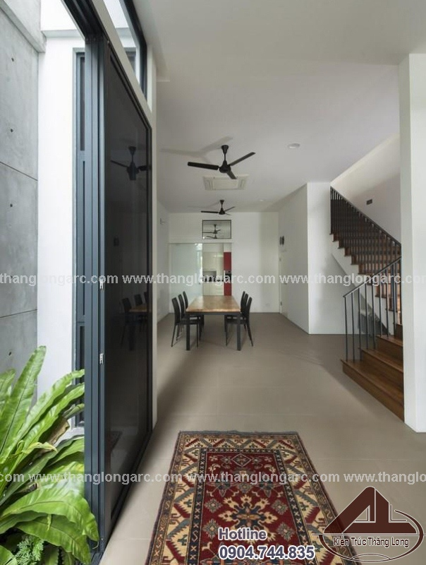 Mẫu thiết kế nhà phố đẹp 3 tầng hiện đại TL-P1290 nội thất
