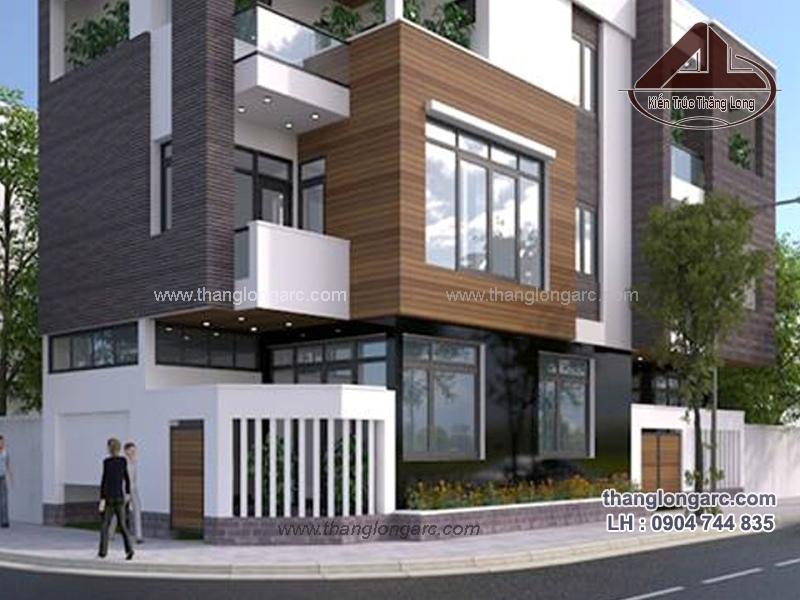 Mẫu thiết kế biệt thự phố cao cấp 3 tầng đẹp, sang trọng