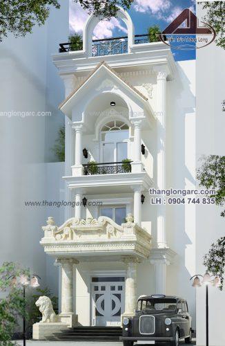 Biệt thự tân cổ điển đẹp được thiết kế cho nhà chị lan