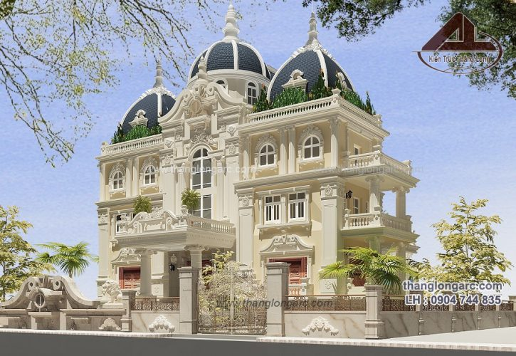 Mẫu biệt thự cổ điển đẹp do kts Thăng Long thiết kế