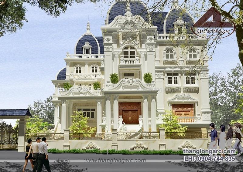 biệt thự cổ điển do Kts Thăng Long thiết kế