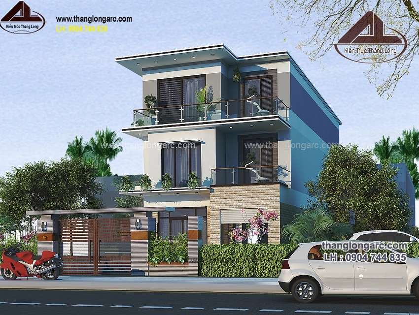 biệt thự hiện đại 3 tầng thiết kế cho gia đình Anh Sơn