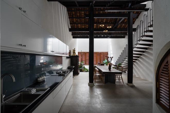 biệt thự hiện đại phòng bếp