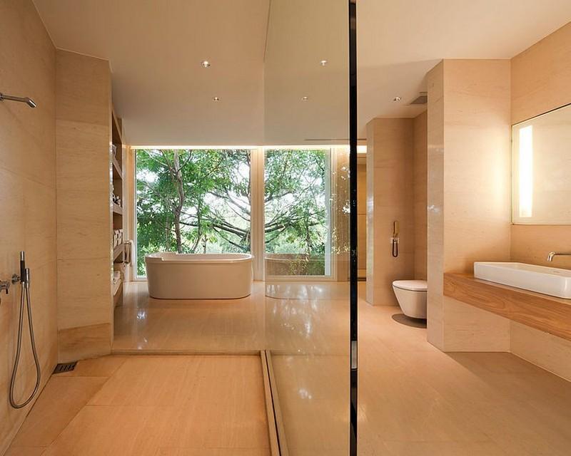 biệt thự hiện đại 2 tầng phòng tắm