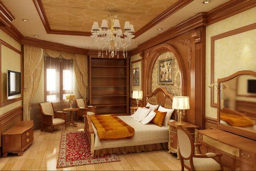 biệt thự cổ điển phòng ngủ