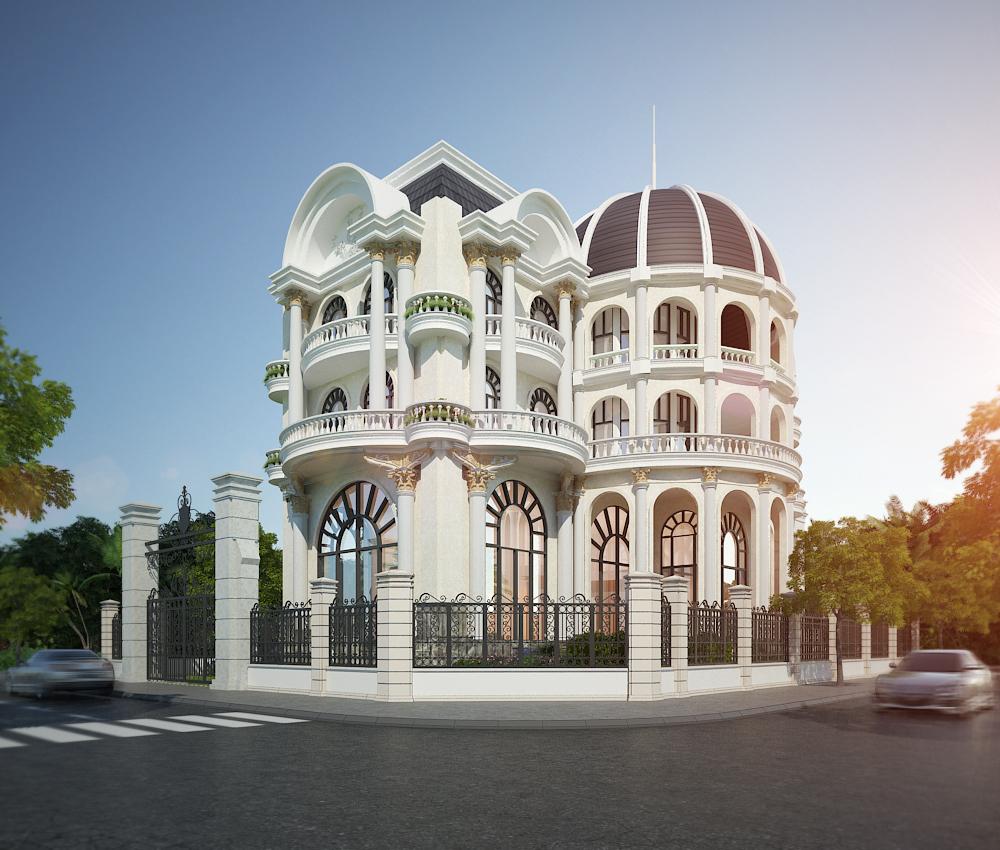 biệt thự cổ điển 5 tầng