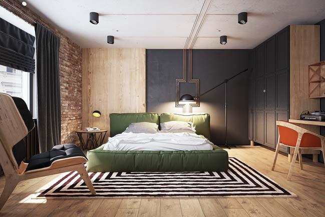 phòng ngủ biệt thự 2 tầng