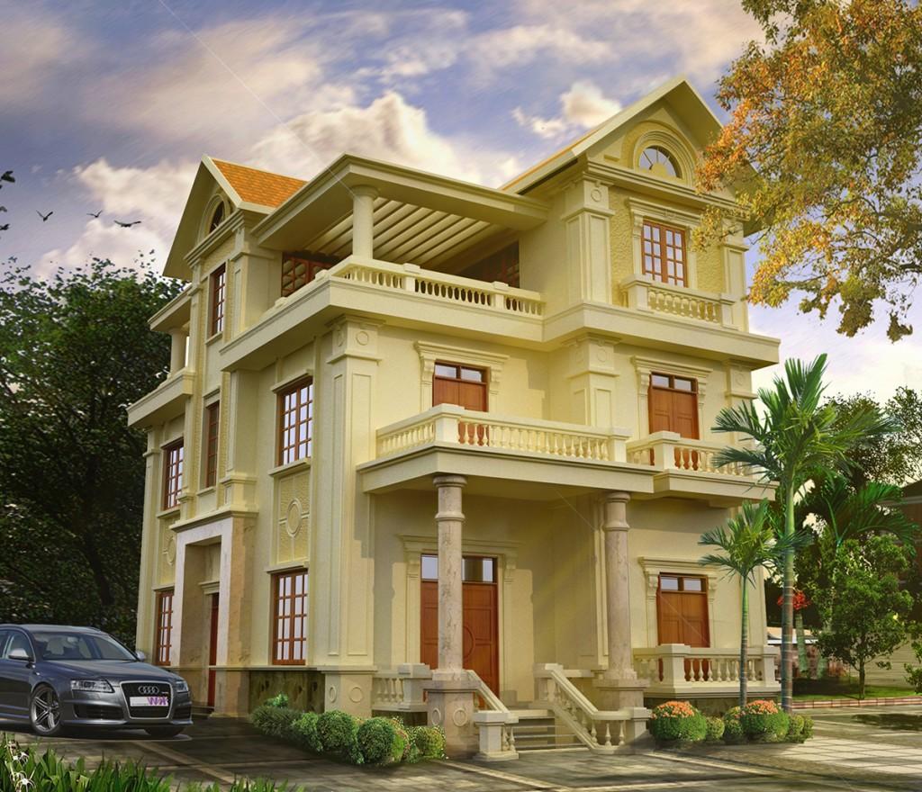 thiết kế biệt thự theo phong cách tân cổ điển
