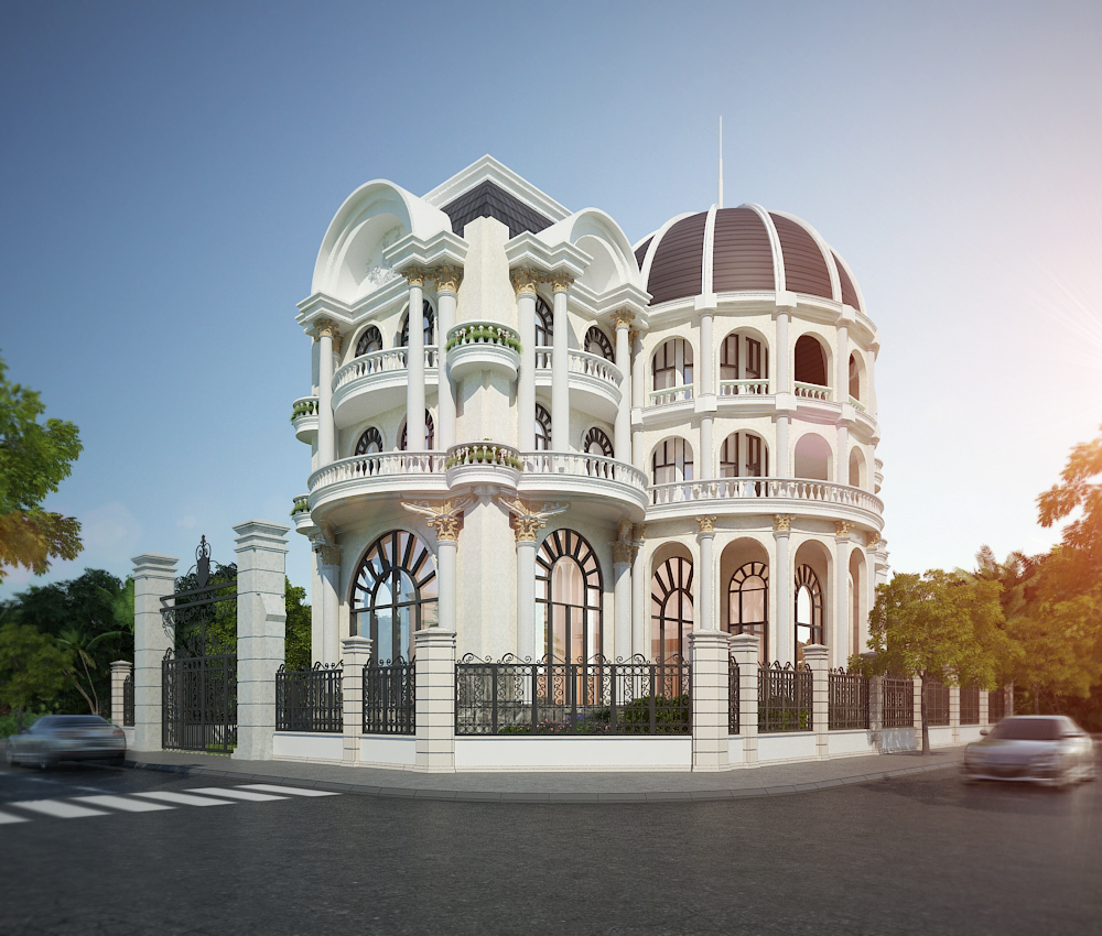biệt thự cổ điển 5 tầng đẹp