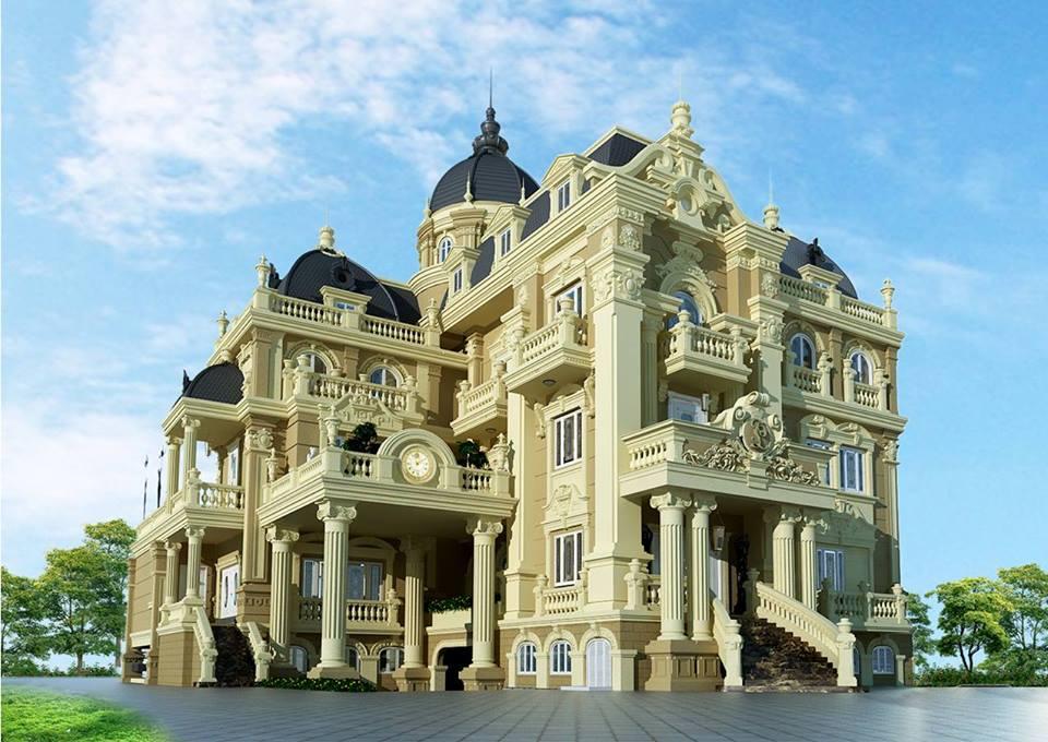 biệt thự cổ điển 3 tầng lâu đài