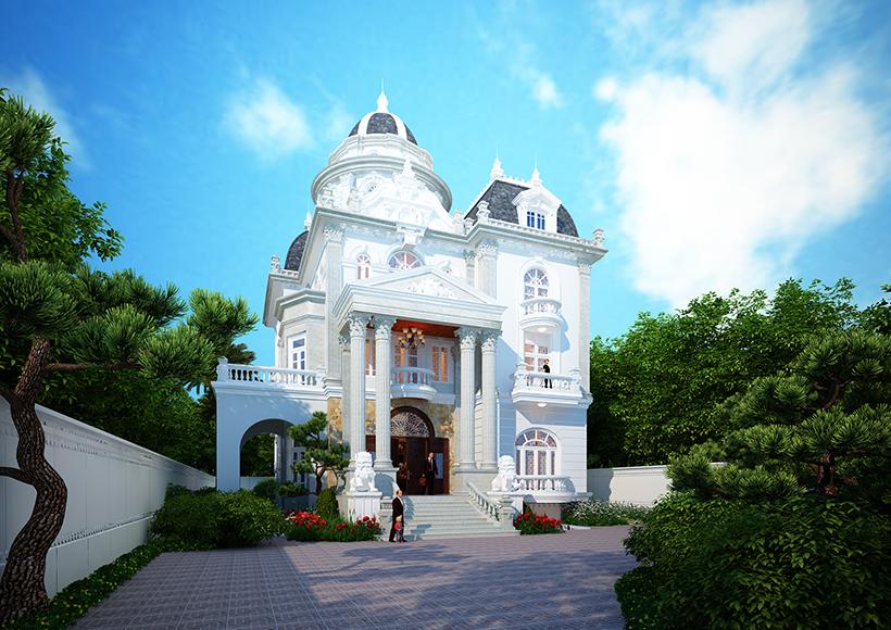 biệt thự kiểu lâu đài đẹp