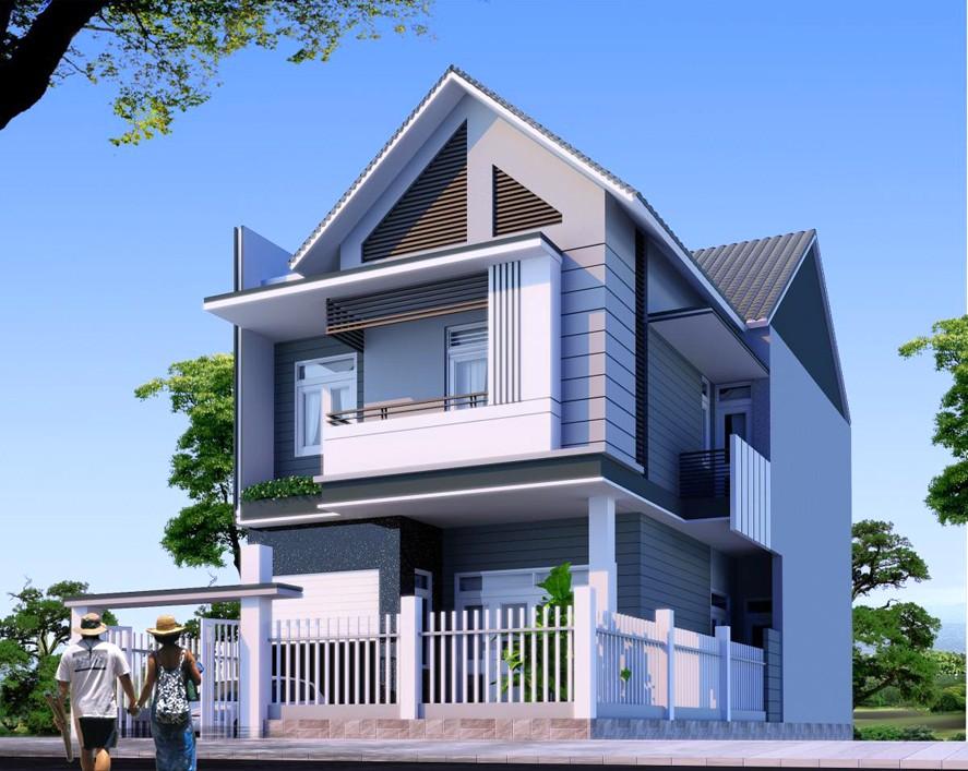 nhà 2 tầng ở nông thôn