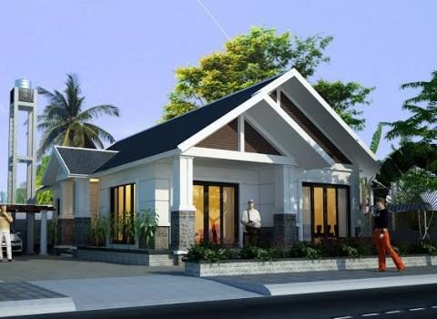 thiết kế nhà cấp 4 3 phòng ngủ 1 phòng thờ