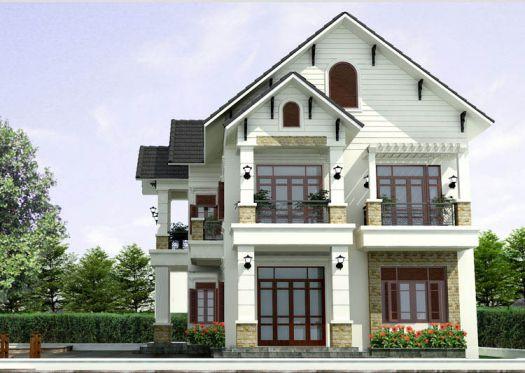 mẫu nhà 2 tầng mái ngói