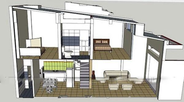 Mặt bằng mẫu thiết kế nhà cấp 4 đẹp 5×20