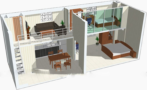 mẫu thiết kế nhà cấp 4 5×20 đẹp