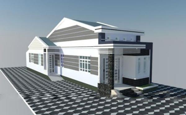 mẫu thiết kế nhà cấp 4 5×20
