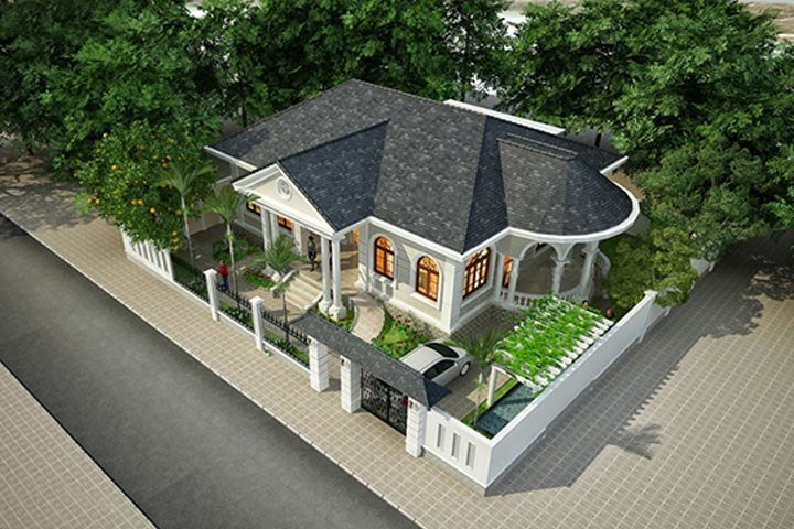 mẫu nhà biệt thự 1 tầng