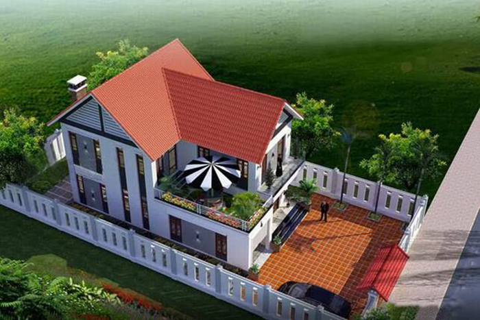 mẫu nhà 2 tầng nông thôn
