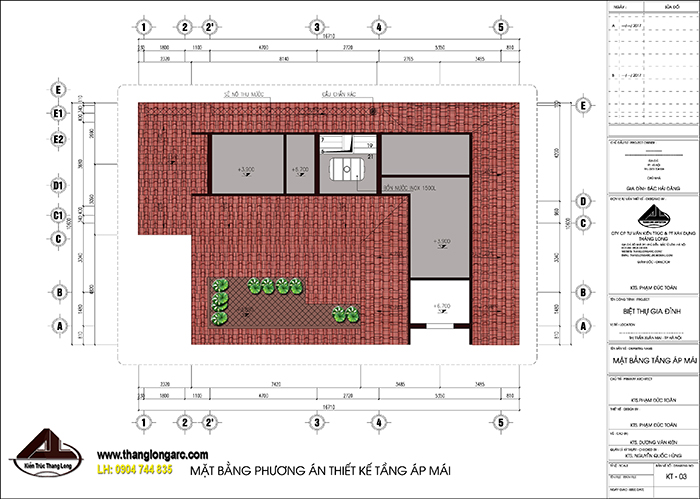 mẫu biệt thự nhà vườn 2 tầng