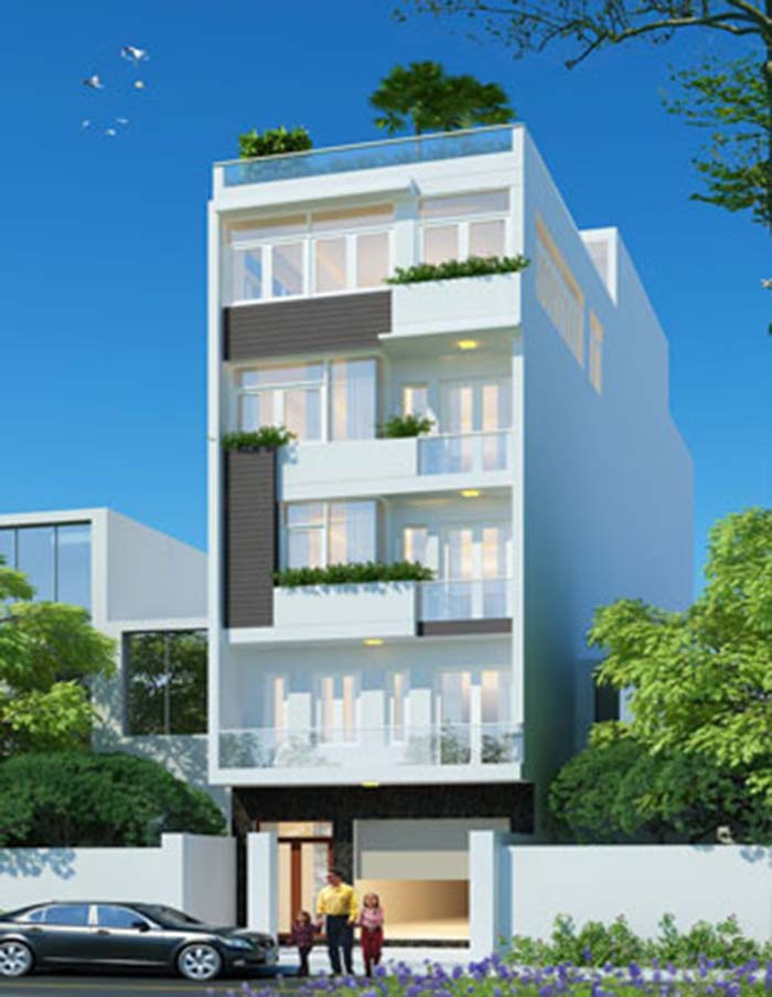 xây nhà 4 tầng hết bao nhiêu tiền