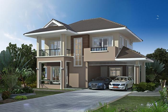 xây nhà 2 tầng 600 triệu đồng